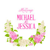 Marriage invitation card Stock Photography