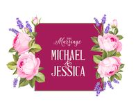 Marriage invitation card. Royalty Free Stock Photography