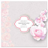Marriage invitation card with place for text and Stock Photo