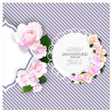 Marriage invitation card with place for text and Royalty Free Stock Photos