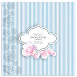 Marriage invitation card with place for text and Royalty Free Stock Image