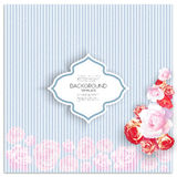 Marriage invitation card with place for text and Stock Images