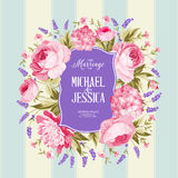 Marriage invitation card. Stock Images