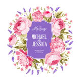 Marriage invitation card. Royalty Free Stock Image
