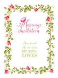 Marriage invitation Stock Image