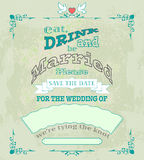 Marriage invited color02 Royalty Free Stock Photo