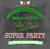 Marriage invited Royalty Free Stock Photos