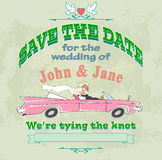 Marriage label avto Royalty Free Stock Photography