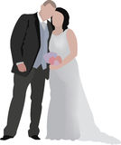 Marriage. Male and female spouses in marital union ceremony Stock Photography