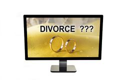 Marriage between man and woman can end up with divorce. Marriage between man and woman can end up with divorce Royalty Free Stock Images