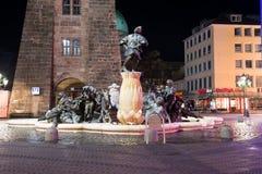 Marriage Merry-go-round Fountain Stock Image