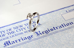 Marriage and money Royalty Free Stock Images
