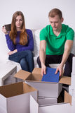 Marriage moving out Stock Images