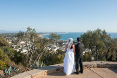 Marriage over Ventura royalty free stock photo