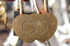 Marriage Padlock Royalty Free Stock Images