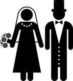 Marriage pictogram Stock Images