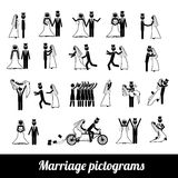 Marriage pictograms. Over white background vector illustration stock illustration