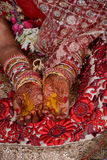 During a marriage pooja. Picture of a hindu marriage ceremony Royalty Free Stock Images
