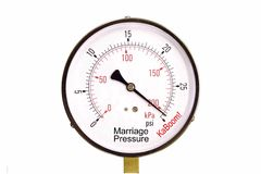 Marriage Pressure Gauge. A conceputal stress gauge of marriage pressure Royalty Free Stock Image