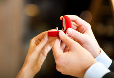 Marriage proposal Royalty Free Stock Photography