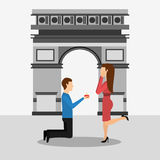 Marriage proposal design Royalty Free Stock Photography