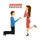Marriage proposal Royalty Free Stock Images
