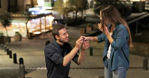 Proposal failure due to cheap engagement ring. Marriage proposal failure due to cheap engagement ring stock video