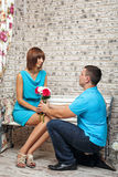 Marriage proposal Royalty Free Stock Photos