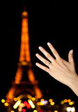 Marriage proposal in Paris Stock Image