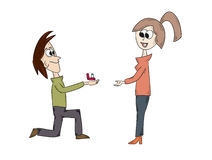 Marriage proposal Stock Images