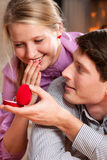 Marriage proposal Stock Photography