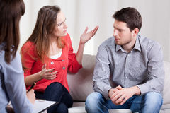 Marriage on psychotherapy session Royalty Free Stock Photos