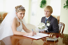 Marriage registration Royalty Free Stock Photo