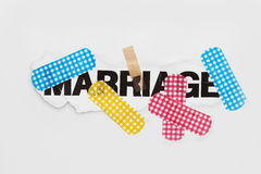 Marriage repair abstract Royalty Free Stock Photos