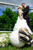Marriage and sport Stock Image