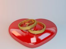 Marriage symbol 3D rendered Illustration Stock Photos
