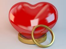 Marriage symbol 3D rendered Illustration Stock Image