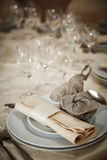 Marriage table dinning setting Stock Images