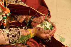 Marriage. Traditional hindu marriage in india stock photos