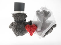 Marriageable teddy bears Stock Image