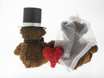 Marriageable teddy bears Royalty Free Stock Images
