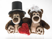 Marriageable teddy bears Stock Photography