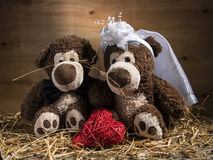 Marriageable teddy bears Royalty Free Stock Image