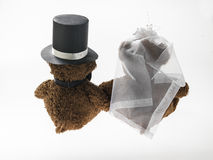 Marriageable teddy bears Royalty Free Stock Photography