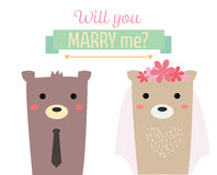 Married bear Stock Photos