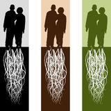 Married Couple. An image of a rooted married couple Stock Photography