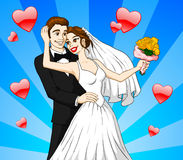 Married Couple. Vector illustration of a married couple Stock Photos