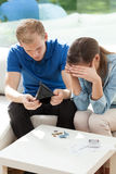 Married couple in bankrupt Stock Image