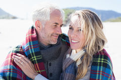 Married couple at the beach together Stock Photo
