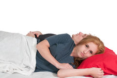 Married Couple in Bed Royalty Free Stock Photos